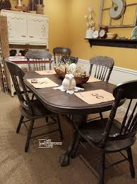 Best  Oak Table And Chairs Ideas Only On Pinterest Refinished - Dining room chairs oak
