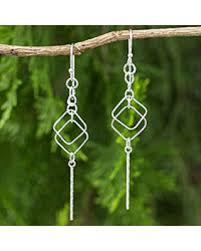 thailand earrings deal on sterling silver dangle earrings geometry