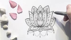 mandala lotus stippling timelapse drawing youtube