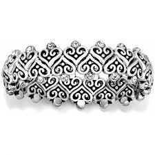 bracelet elastic silver images Alcazar alcazar heart stretch bracelet bracelets jpg