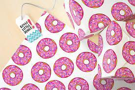 donut wrapping paper donut wrapping paper donut gift wrap donut gift donut