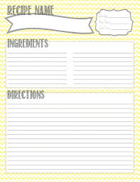 printable recipe cards template free printable recipe templates recipe template printable free