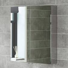 1200mm tall stainless steel mirror bathroom cabinet amazon co uk