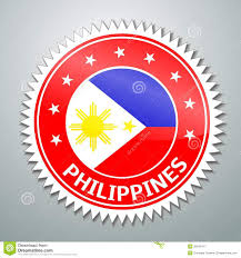 Philippines Flag Philippine Flag Label Stock Illustration Image Of Overlay 32045477