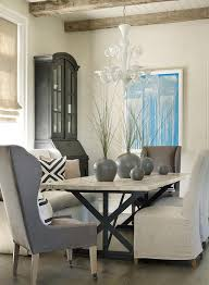 wingback dining room chairs iron x based dining table transitional dining room
