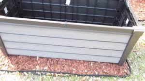 decks deck boxes lowes 150 gallon deck box wooden deck box
