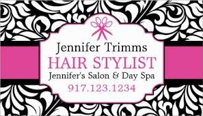 Business Cards Hair Stylist Girly Appointment Reminder Business Cards Girly Business Cards