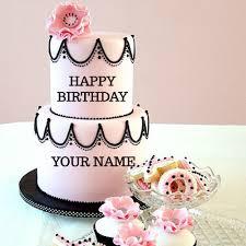 wedding cake name write your name on pink flowers wedding cake free