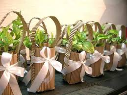 Flower Pot Wedding Favors - eco weddings 101 favors eco friendly and gift