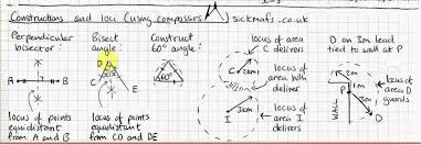 ks3 gcse maths constructions and loci using compasses by
