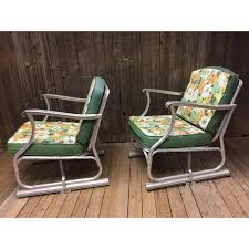 Glider Patio Furniture Mid Century Modern Bunting Aluminum Glider Patio Chairs A Pair
