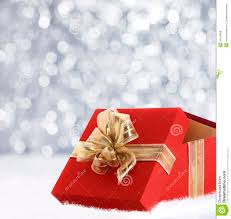 christmas gift in winter snow royalty free stock photos image