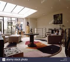 livingroom in deco rug and furniture in modern livingroom in loft conversion