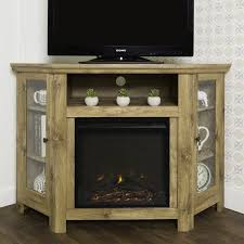 corner tv cabinet with electric fireplace corner tv stand with electric fireplace reviews joss main
