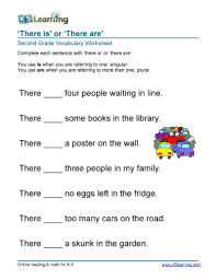 fillable online vocabulary 2nd there is are words printable