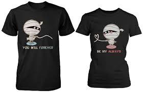 halloween horror nights upc code 2015 amazon com halloween couple shirts mummy shirts for horror