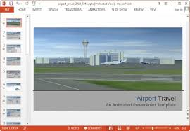 airport powerpoint template free download animated airport