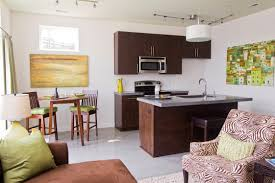 island kitchen layout including wondrous small apartment open
