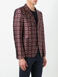 bally printed blazer 6212242 multisienna men clothing blazers