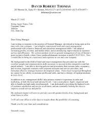 application letter as general manager