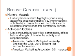 How To List Scholarships On Resume Creating Effective Resumes