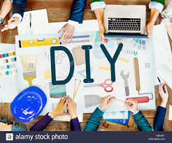 do it yourself project graphics concept stock photo royalty free