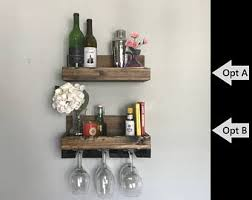 36 long rustic wood wine rack shelf u0026 hanging