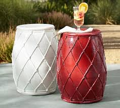Ceramic Accent Table Net Ceramic Accent Table Pottery Barn