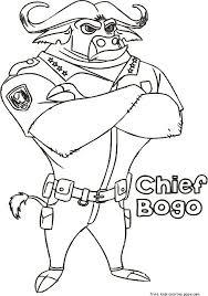 chief bogo zootopia coloring printables free printable