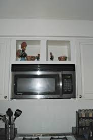 Microwave In Kitchen Cabinet by Kitchen Update How We Turned An Ugly Awkward Space Into A Wine