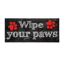 Welcome Mat Wipe Your Paws Sassafras Door Mat Inserts Wayfair