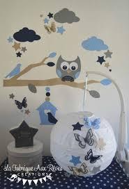 abat jour chambre bébé garçon décoration chambre enfant bébé garçon hibou chouette branche nuage