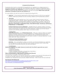 Oilfield Resume Objective Examples by Graduate Admissions Resume Sample Http Www Resumecareer