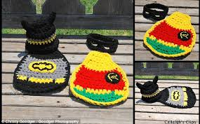 Infant Robin Costume Batman Robin Costumes Newborn Caped Crusaders Daily Mail