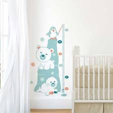 stickers muraux chambre garcon sticker mural toise banquise motif bébé garçon pour chambre bébé