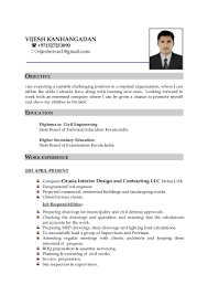 Sample Resume For Civil Site Engineer by Vijesh Resume Pdf