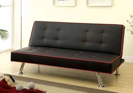 Red And Black Sofa by Verdis Contemporary Style Black And Red Adjustable Sofa Bed