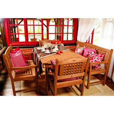 Red Patio Dining Sets - martha stewart living charlottetown natural 5 piece all weather