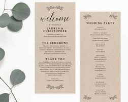 simple wedding ceremony program wedding program pdf etsy