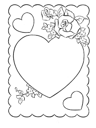 valentines cards coloring valentines cartoon coloring pages