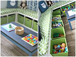 Bench Toy Storage Furniture Charming Ikea Toy Storage In Green Filled With Toys And