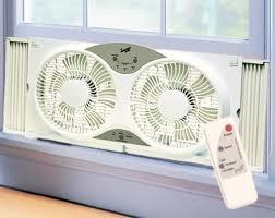 Comfort Zone Heater Fan Comfort Zone Cz310r 9 Inch Reversible Twin Window Fan With Remote