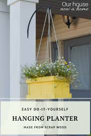 diy hanging planter how to create using wood pallets u2022 our house