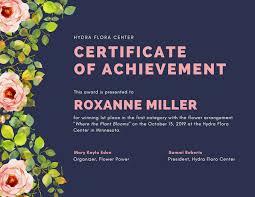 Certification Letter Of Accomplishment Free Online Certificate Maker Design A Custom Certificate Canva