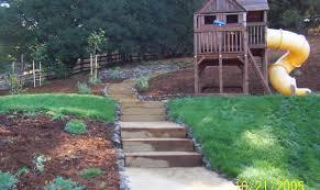 backyard slope landscaping ideas unique landscape