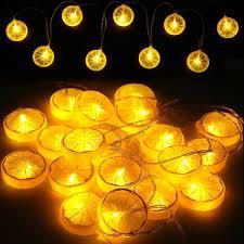 Rope Lights For Bedroom Starry String Lights Novelty Lemon Lights Indoor And