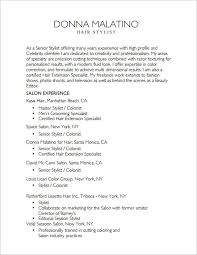 hair stylist resume exle hair stylist resume pertamini co