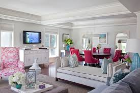 Colorful Chairs For Living Room Pink Chair Look Los Angeles Traditional Living Room Image Ideas