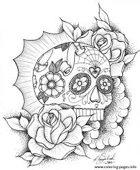 awesome sugar skull picture coloring pages printable
