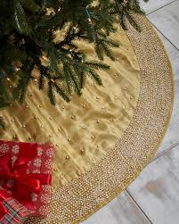 gold tree skirt sudha pennathur gold glitter collection embroidered organza tree